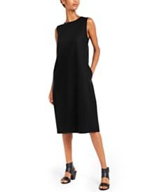 Eileen Fisher Sleeveless Crewneck Shift Dress
