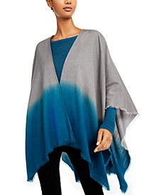 Ombre Silk-Blend Poncho