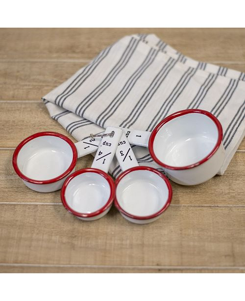 VIP Home & Garden VIP Home International 4-Piece and Metal Enamelware Measuring Cups