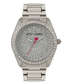 Betsey Johnson Glitter Dial Silver Watch 40mm
