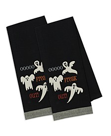 Freak Out Embellished Dishtowel