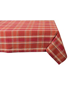 Design Imports Autumn Spice Plaid Tablecloth