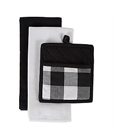 Buffalo Check Potholder Dishtowel Kitchen Set