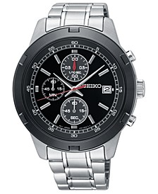 Men's Chronograph Stainless Steel Bracelet Watch 43.5mm