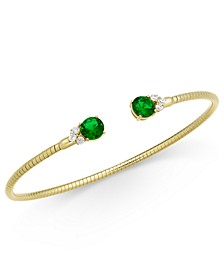 Cubic Zirconia & Glass Bangle Bracelet, Created For Macy's