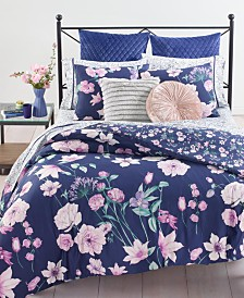 Whim by Martha Stewart Collection Midnight Floral 3-Pc. Comforter Sets, Created for Macy's