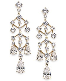 Gold-Tone Cubic Zirconia Chandelier Drop Earrings, Created For Macy's