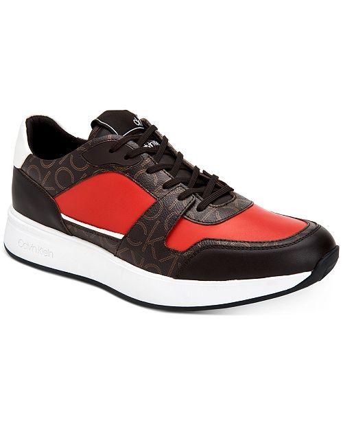 Calvin Klein Men's Dudley Low Top Logo Fashion Sneakers