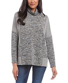 Spacedyed Cowl-Neck Sweatshirt