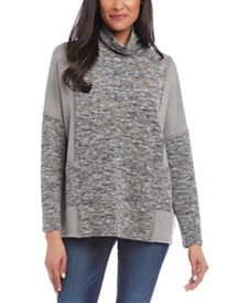 Karen Kane Spacedyed Cowl-Neck Sweatshirt