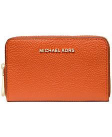 Michael Michael Kors Jet Set Leather Zip-Around Card Case