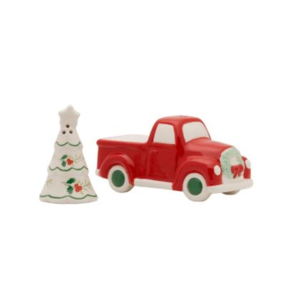 Winterberry Truck And Tree Salt and Pepper Set