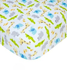 Carter's Cotton Sateen Crib Sheet - Safari Print