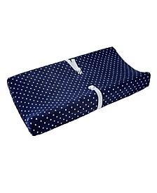 Star Print Plush Velboa Changing Pad Cover