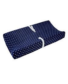 Carter's Star Print Plush Velboa Changing Pad Cover