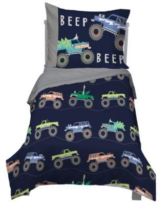 Monster Truck 4-Piece Toddler Bedding Set