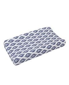 Indigo Hues Plush Changing Pad Cover