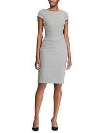 Lauren Ralph Lauren Geometric-Print Cap-Sleeve Houndstooth Dress