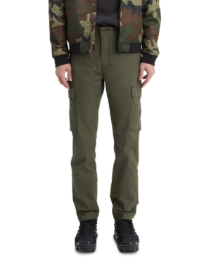 Levi's Men's 502 Aviator Tapered Cargo Pants In Olive Night