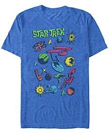 Men's The Original Series Comic Pop Art Short Sleeve T-Shirt