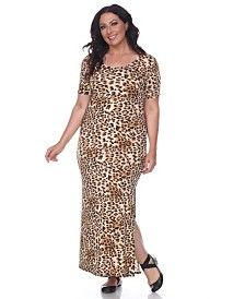 White Mark Women's Plus Size Jasmine Maxi Dress