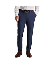 Comfort Stretch Stria Slim Fit Flat Front Dress Pant
