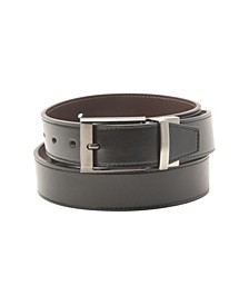 Big-Tall Leather Reversible Men's Belt