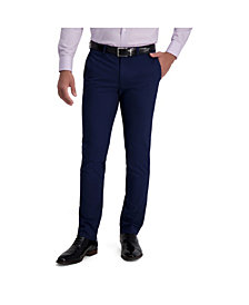 Louis Raphael Comfort Stretch Solid Skinny Fit Flat Front Dress Pant