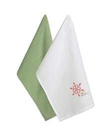 Check Happy Holidays Dishtowel Set