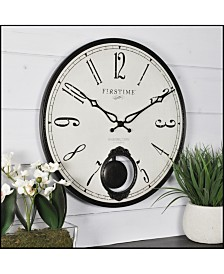 "Firstime & Co 16"" Bistro Pendulum Wall Clock"