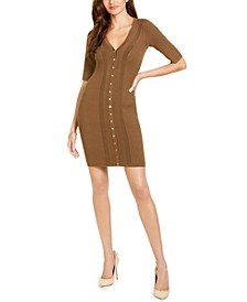 Seneca Snap Front Ribbed Dress