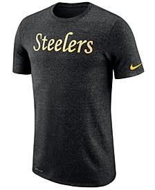 Men's Pittsburgh Steelers Marled Historic Logo T-Shirt