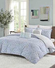 Echo Design Bukhara King 3 Piece Reversible Cotton Comforter Set