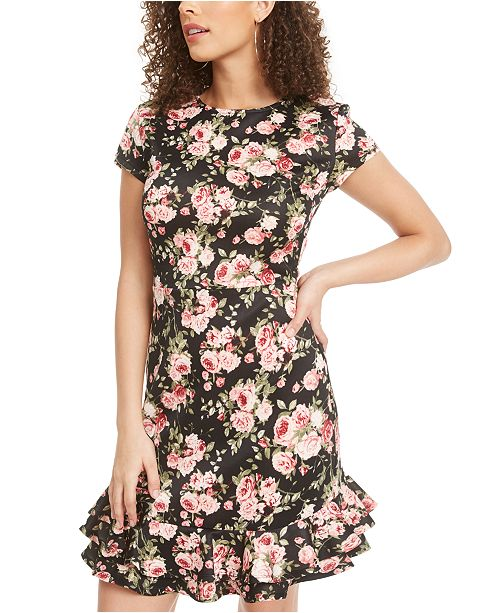 Rosie Harlow Juniors' Ruffled Fit & Flare Dress