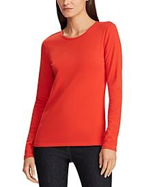 Petite Stretch Long-Sleeve T-Shirt