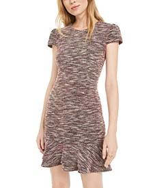 Petite Printed Ruffle-Hem Dress