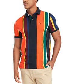 Tommy Hilfiger Men's Junior Stripe Polo Shirt, Created for Macy's