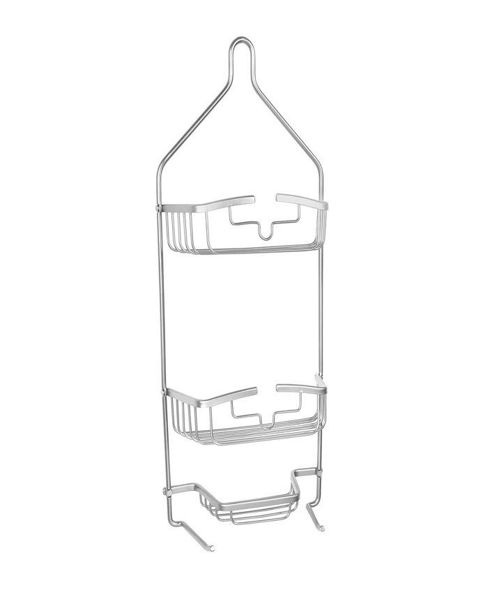 Kenney - Rust-Proof Heavy Duty Aluminum 2-Tier Hanging Shower Caddy
