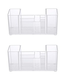 Bathroom Countertop Organizer, 8 Compartments, Set of 2