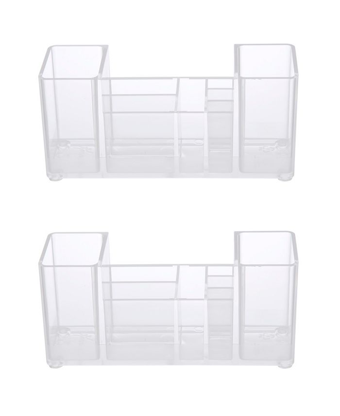 Kenney - Bathroom Countertop Organizer, 8 Compartments, Set of 2