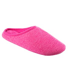 Isotoner Women's Heathered Jersey Hoodback Slipper with Memory Foam, Online Only