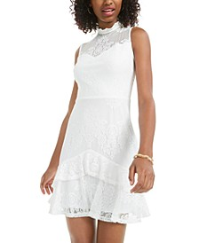 Juniors' Flounce Lace Dress
