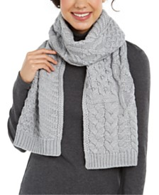 Michael Michael Kors Patchwork Cable-Knit Muffler Scarf