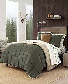 Sherwood Dark Green Comforter Set, Full/Queen