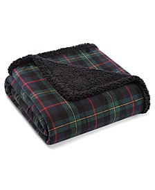 Mountain Pine Tartan Sherpa Throw