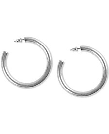 Medium Tubular Hoop Earrings 2""