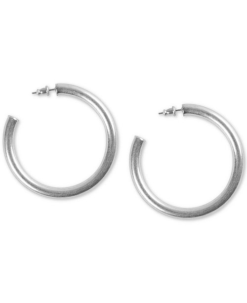 Lucky Brand Medium Tubular Hoop Earrings 2""