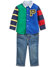 Polo Ralph Lauren Baby Boys Oxford Shirt & Jeans