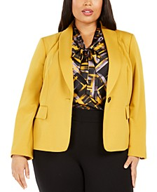 Plus Size Shawl-Collar Blazer