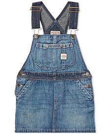 Toddler Girls Denim Overall Dress